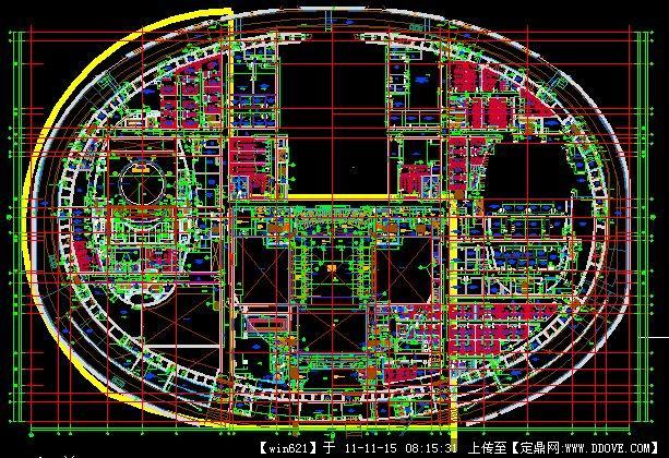 国家大剧院建筑平面图
