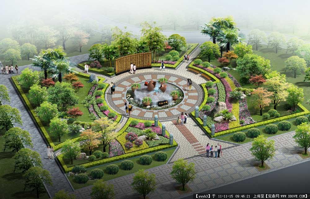 街头绿化效果图的图片浏览,园林效果图,街头绿地,园林