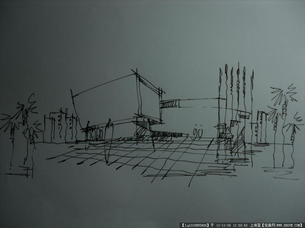 钢笔手绘效果图