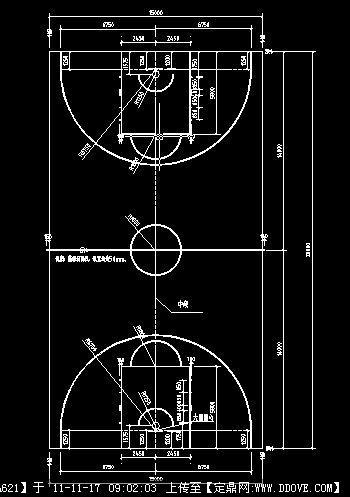 最新篮球场画线图