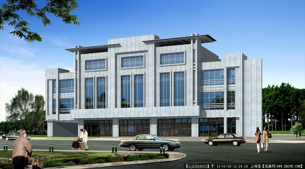 楼效果图四层办公楼外观效果图四层办公楼设计