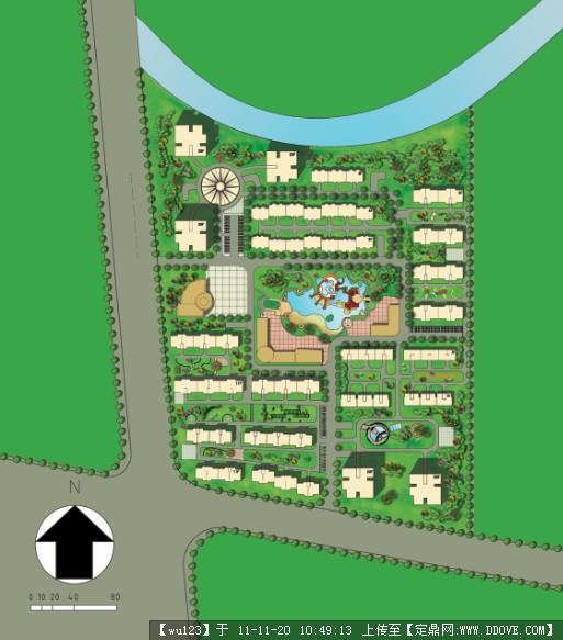 小区规划psd平面图