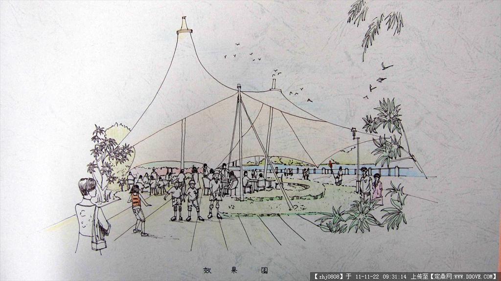滨水景观设计手绘效果图中国研究院东北设计市政工程图片