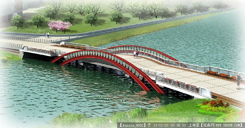 人行桥效果图