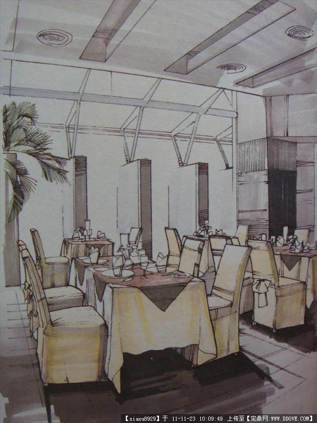 定鼎网 定鼎室内 室内效果图 其他空间 公共空间手绘效果图2(室内外)