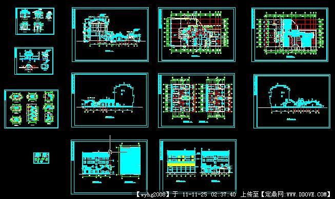 中國古建,建筑設計施工圖紙資料下載_定鼎建筑; 仿古民居圖片;
