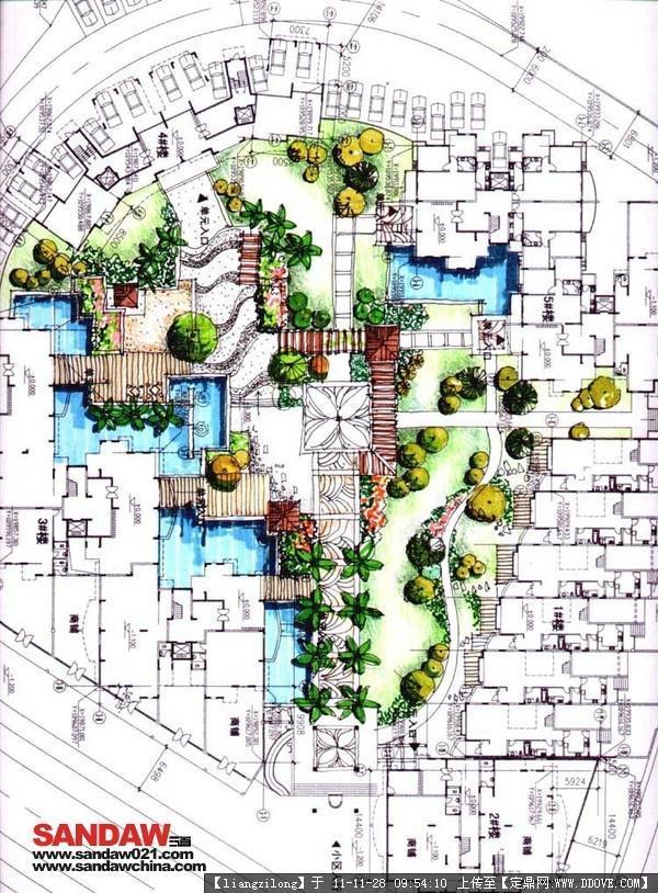 景观节点效果图的图片浏览,园林效果图,手绘效果,园林