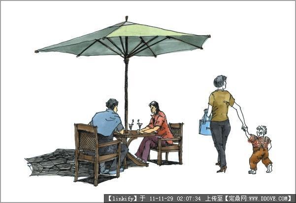 园林景观手绘图片-8787.jpg;; 广州疯狂手绘;; 人物画法