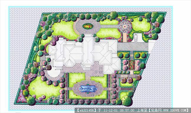 别墅花园平面彩平
