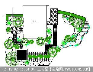 私人别墅庭院CAD平面设计图图片