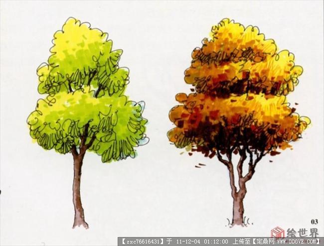 景观节点手绘的图片浏览,园林效果图,手绘效果,园林_.