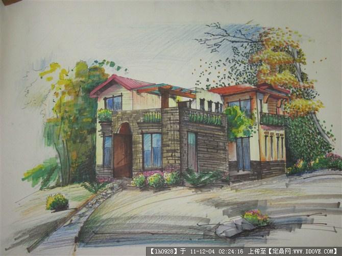 园林花园手绘图的图片浏览