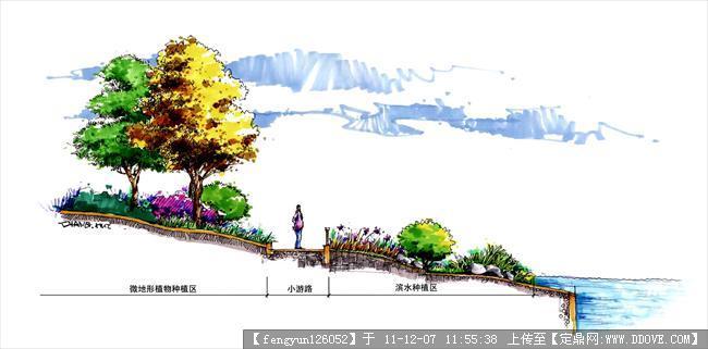 滨水手绘效果图的下载地址,园林效果图,手绘效果,园林图片