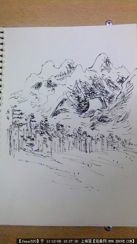 丽江古镇室外手绘