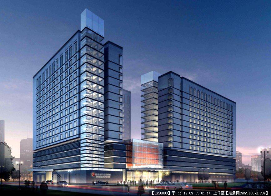 办公楼效果图,办公楼建筑效果图,五层办公楼建筑效果图,建筑图集