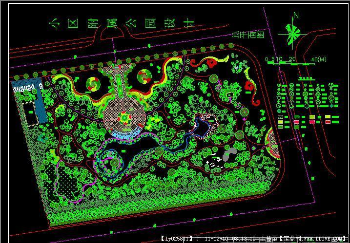 小区钳工园林施工图v小区螺丝帽图纸公园图片