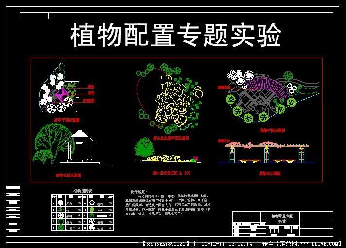 植物配置专题的下载地址,园林施工详图,种植设计,园林
