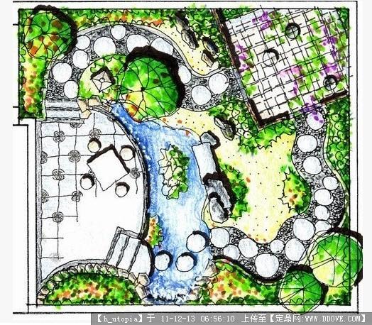 小庭院设计平面图_别墅庭院设计平面