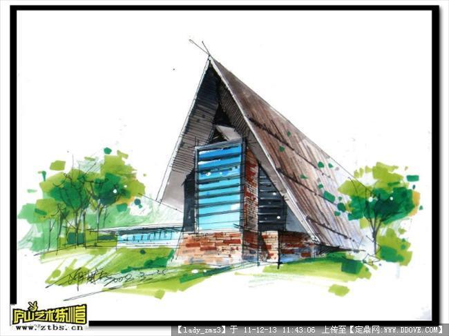 园林景观设计手绘效果图; 庐山师生部分手绘资料;; 景观园林建筑手绘