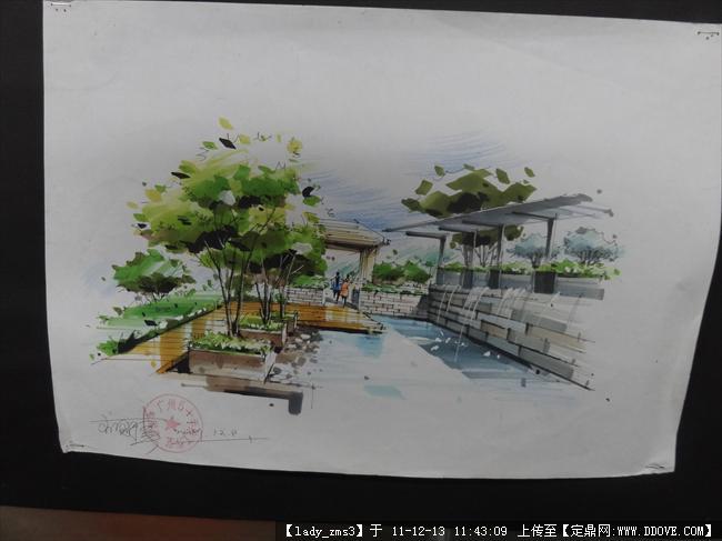 园林景观手绘树效果图,景观手绘效果图,景观小品手绘效果图,景观