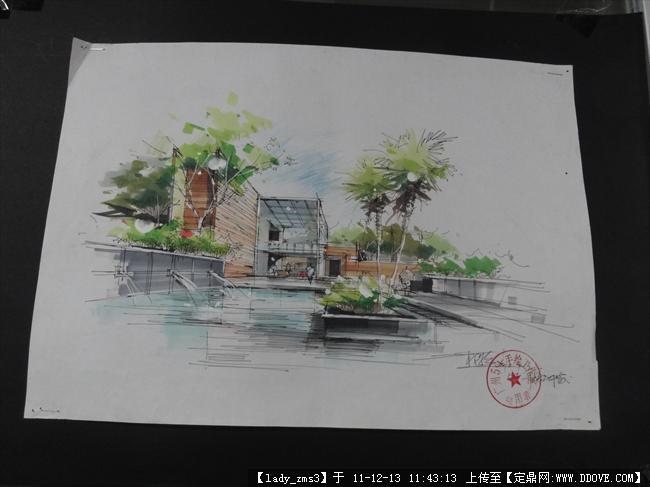 景观园林建筑手绘参考
