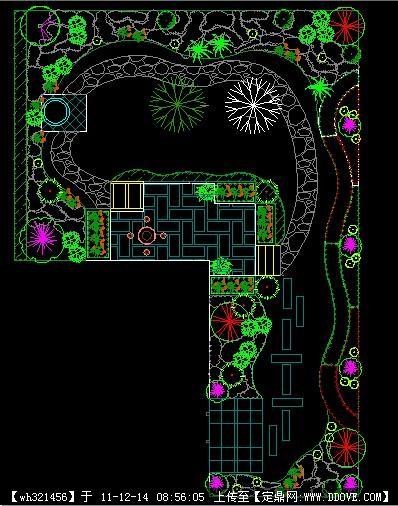 某别墅庭院设计CAD别墅拆违图片