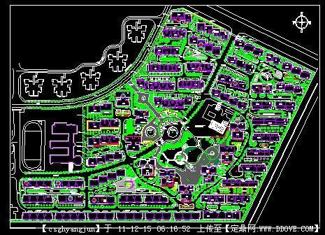居住小区规划总平面图图片