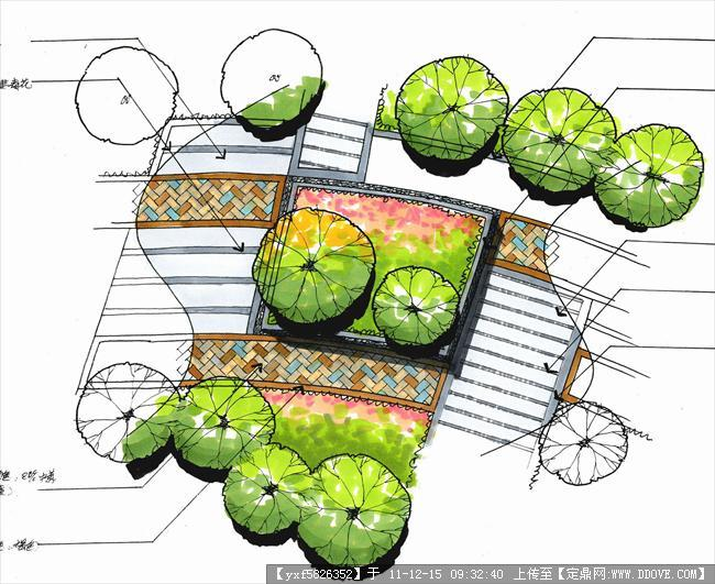 园林手绘资料-d-c-05铺装平面图0