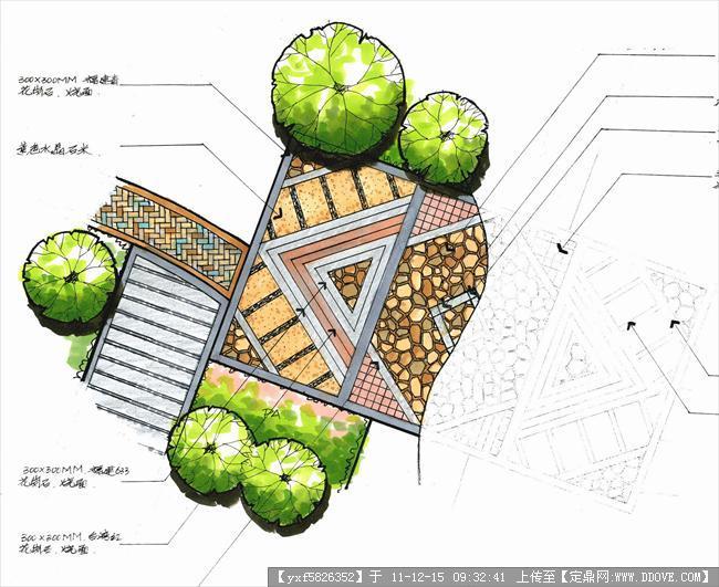 园林手绘资料-d-c-02铺装平面图8
