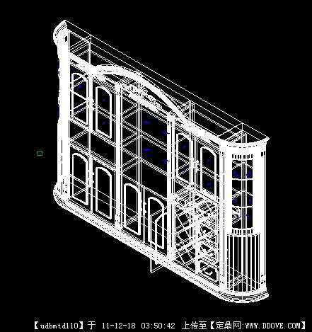 cad三维等分欧式酒柜cad距模型圆形定用怎么图片