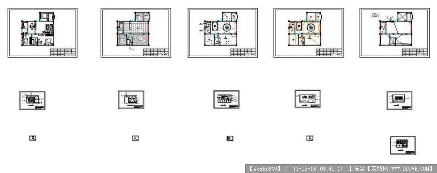 家庭装修CAD符号图纸全套图纸电力工程图片