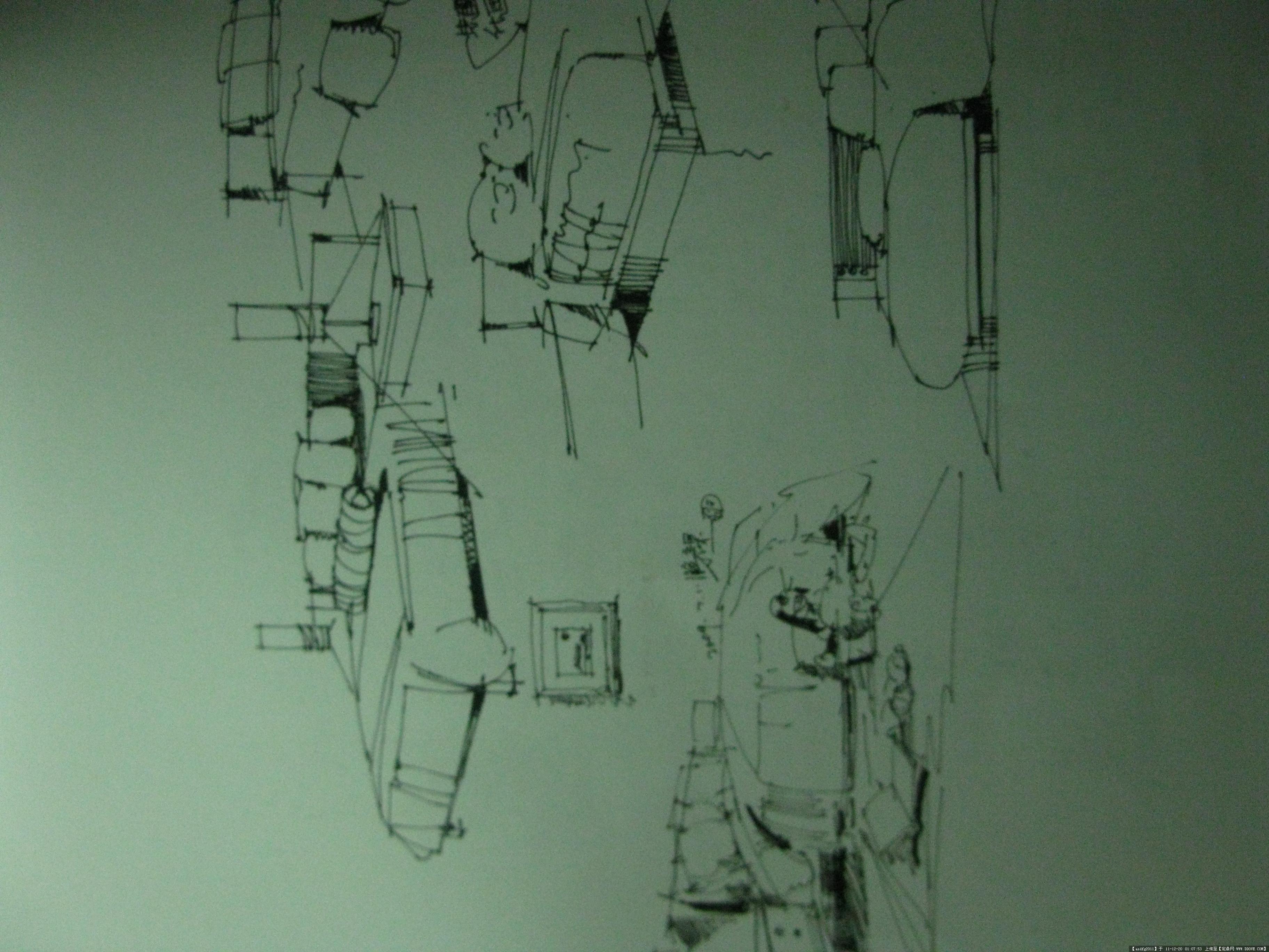 室内家具手绘线稿图集的图片浏览,室内效果图,住宅,.