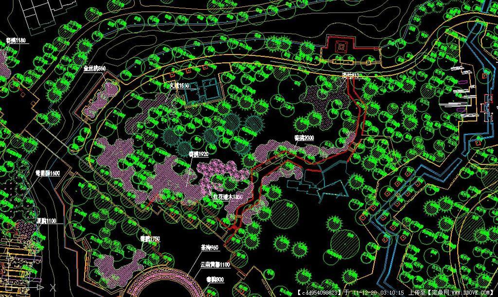 生态公园/小游园景观设计cad(包括植物配置图)