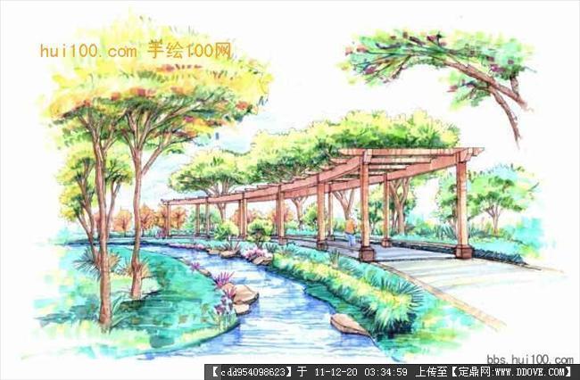 实用休闲设施 景观节点的手绘效果图的图片浏览,建筑效果图,手
