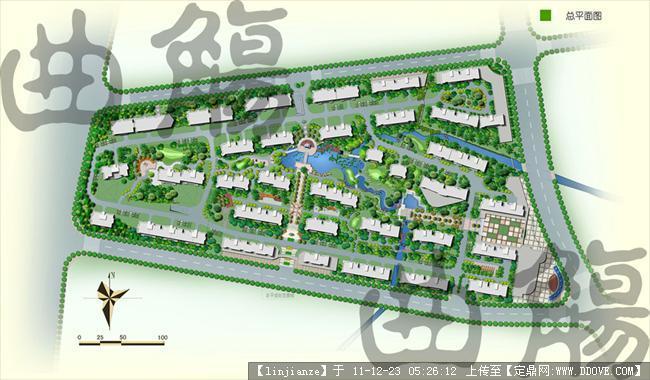 小区规划总平图 高清图片
