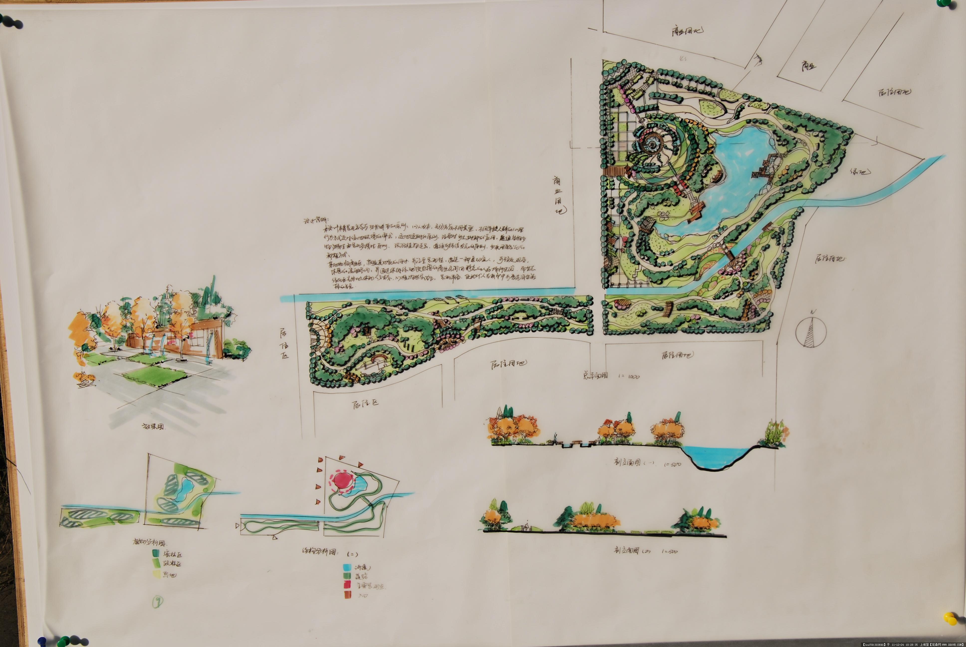景观手绘效果图的图片浏览,园林效果图,公园景观,园林
