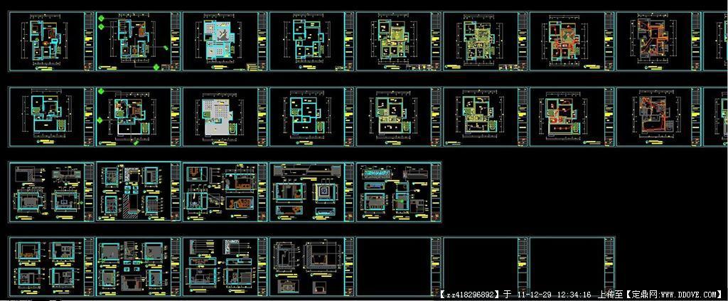 室内装修设计全套cad 施工图纸