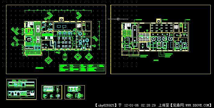 中式餐厅室内设计施工图CAD文件