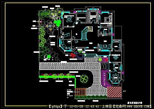 别墅景观绿化设计图