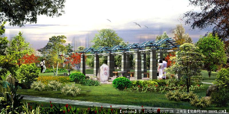 微景观-某绿地小景景观设计效果图.jpg 原始尺寸:800 * 400