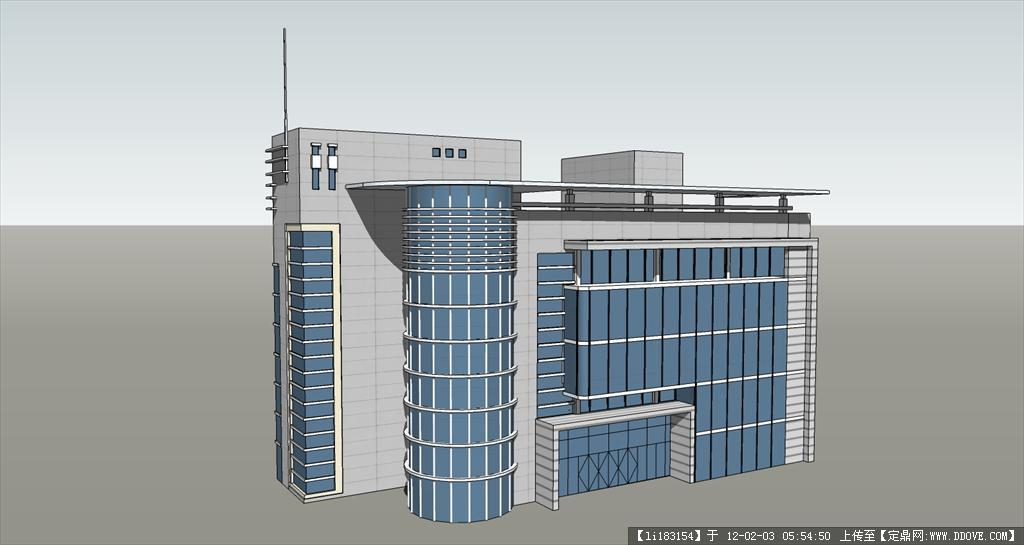 办公楼su模型的下载地址