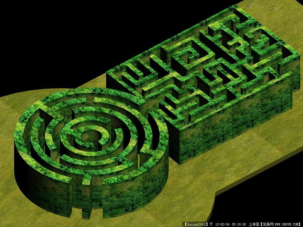植物迷宫的下载地址,三维模型,园林景观,园林建筑装饰