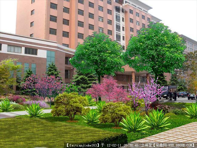 办公楼绿地效果图的下载地址,园林效果图,单位厂区,_.