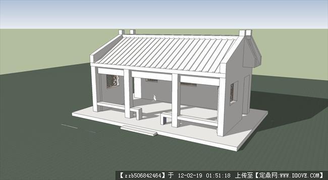 休闲建筑su模型