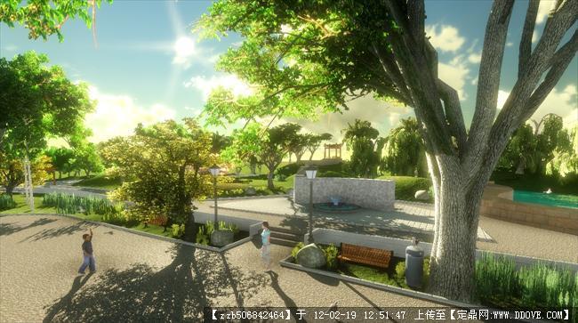 某住宅庭院景观设计效果图的图片浏览,园林效果图,,.