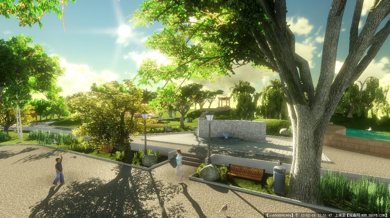 某住宅庭院景觀設計效果圖