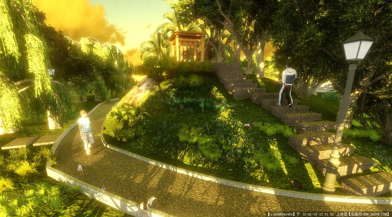 某住宅庭院景观设计效果图