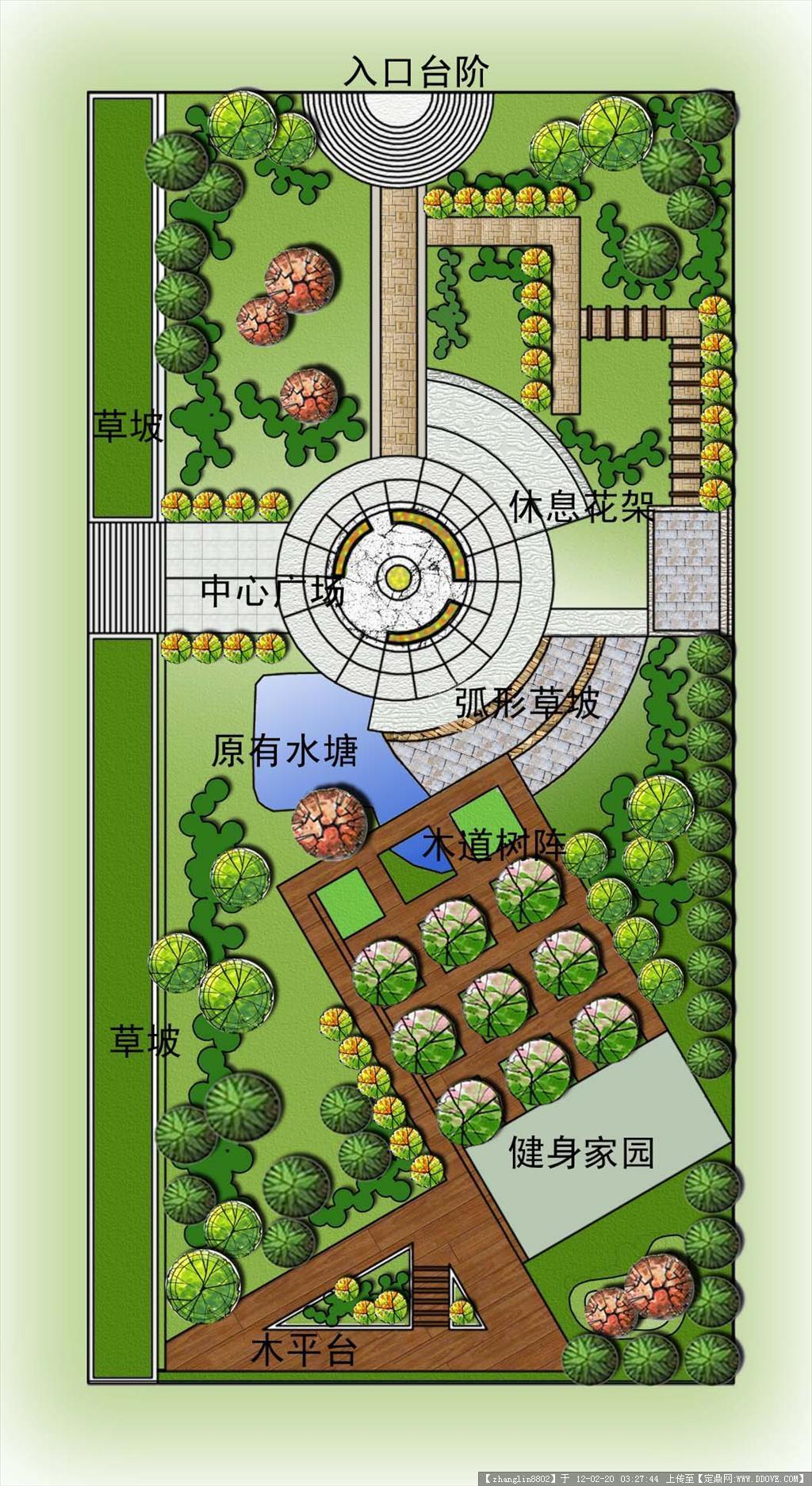 桃花小游园;; 小游园平面图效果图街头小游园平面图