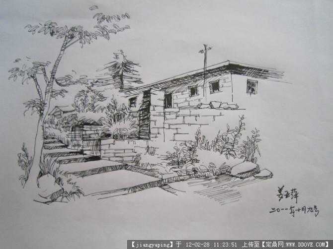 不错的手绘线稿的图片浏览,园林效果图,手绘效果,园林