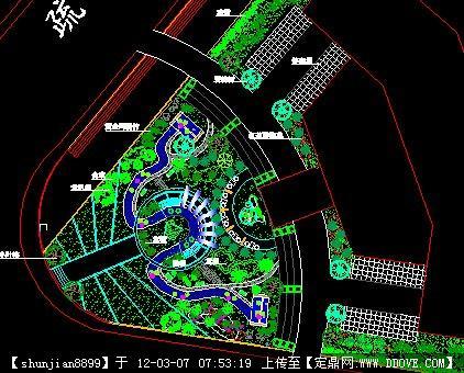 某酒店广场景观设计方案平面图图片